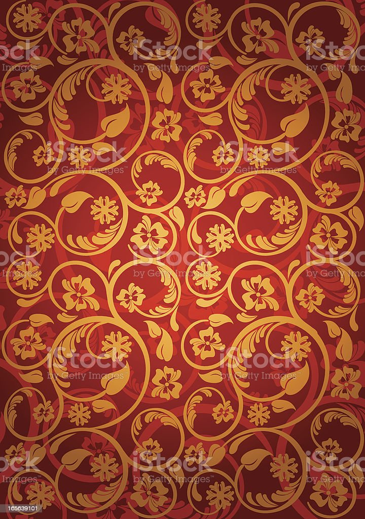 Luxury Floral Pattern royalty-free stock vector art