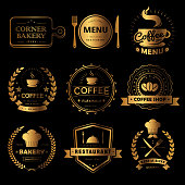 Luxury food and drink labels set