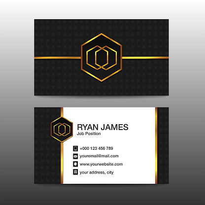 Luxury Gold Business Card Template