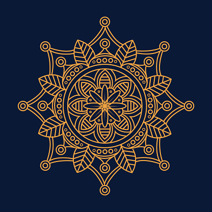 Luxury gold mandala vector. Ethnic royal pattern