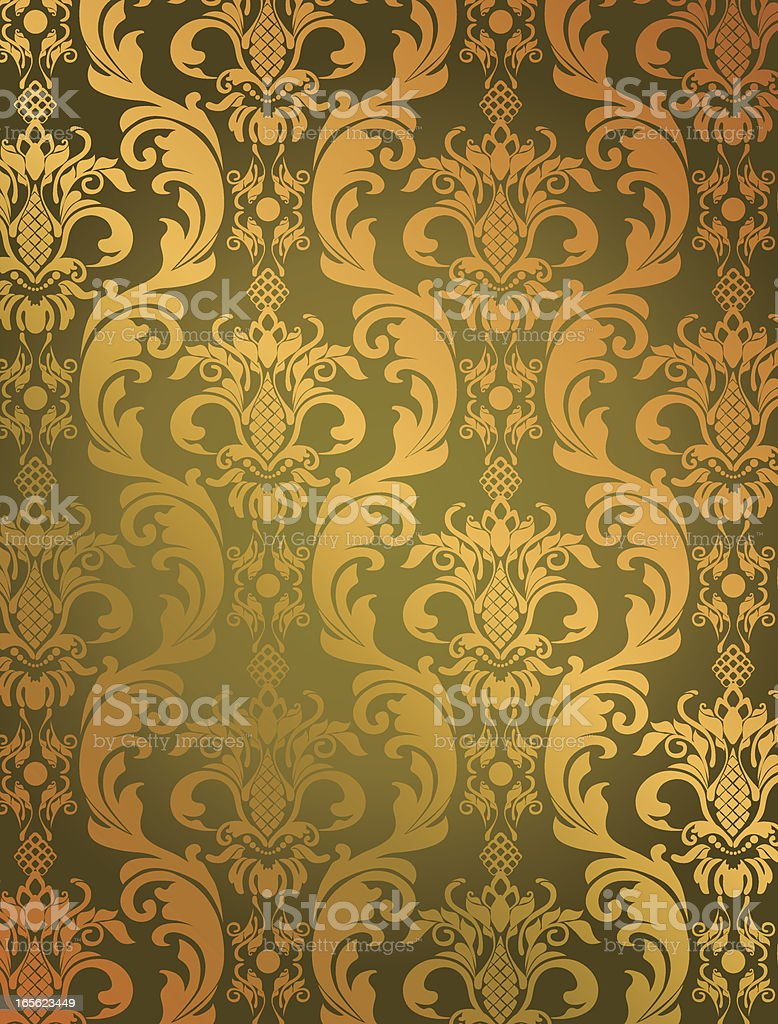 Luxury golden Floral Pattern royalty-free stock vector art