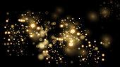 Luxury golden glittering dark background