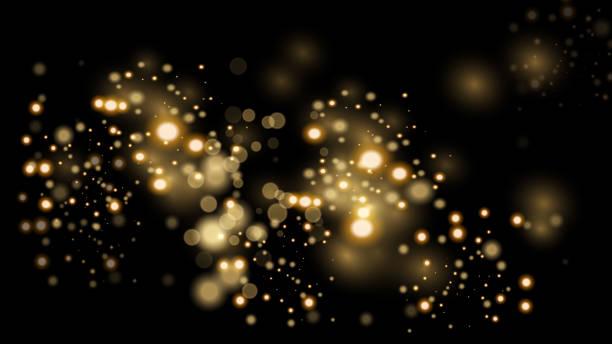 豪華ゴールデンきらびやか暗い背景 - キラキラ点のイラスト素材/クリップアート素材/マンガ素材/アイコン素材