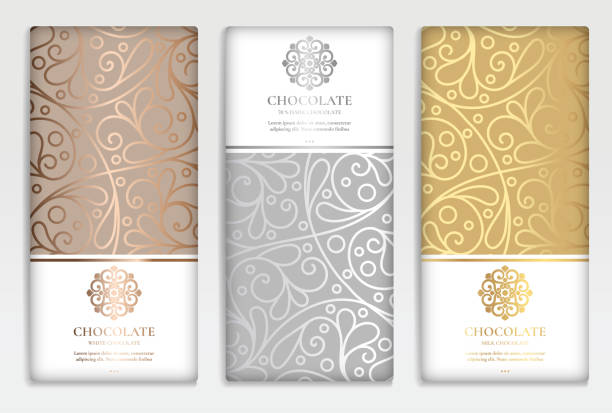 illustrazioni stock, clip art, cartoni animati e icone di tendenza di luxury golden packaging design of chocolate bars. vintage vector ornament template. elegant, classic elements. great for food, drink and other package types. can be used for background and wallpaper. - arabia