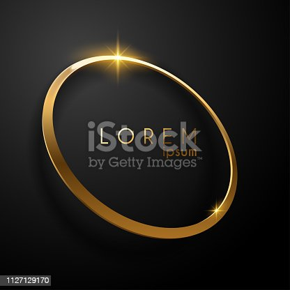 luxury golden ring background in vector