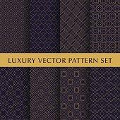 Luxury golden vector patterns pack