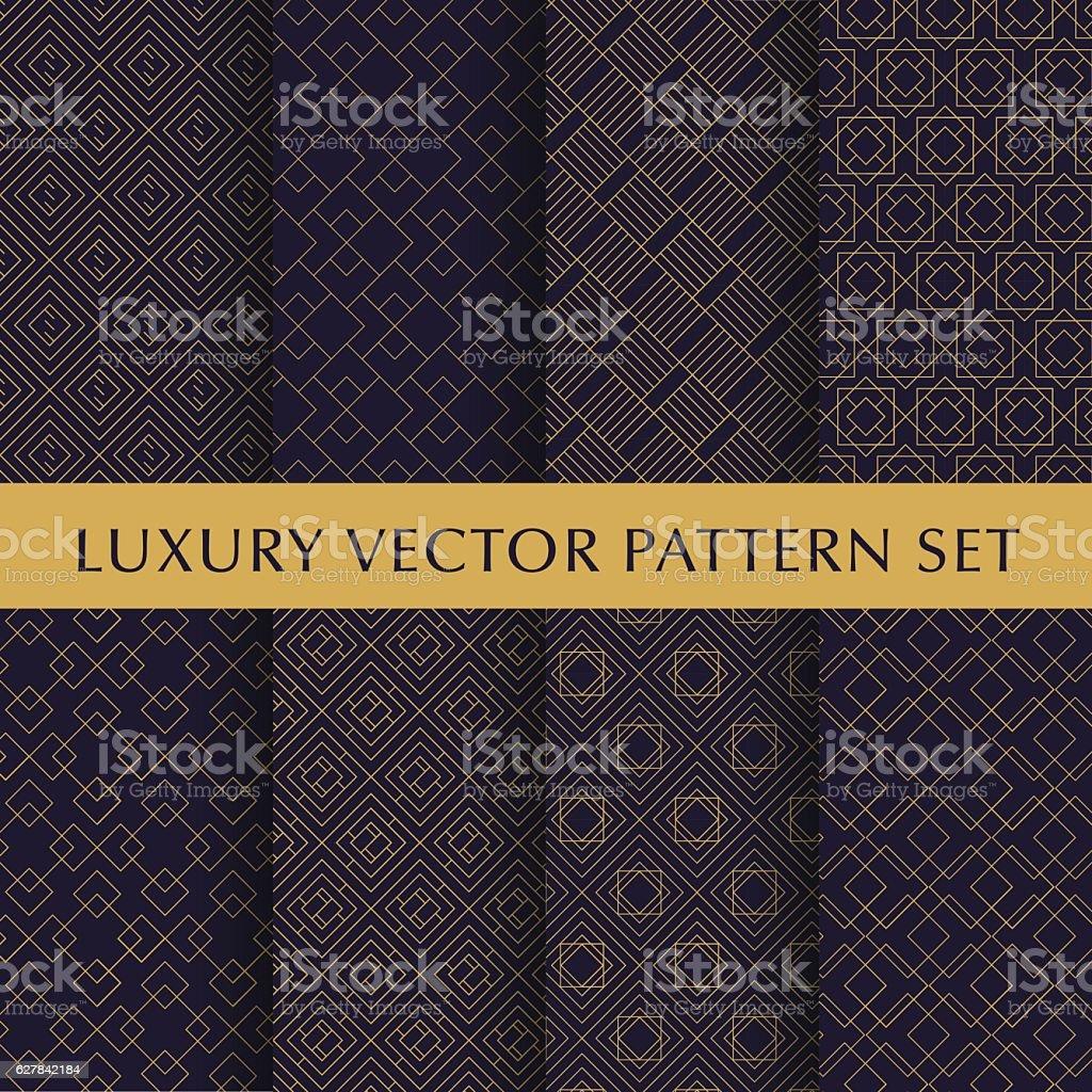Luxury golden vector patterns pack vector art illustration