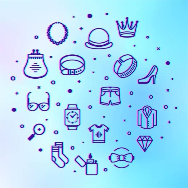 ilustrações de stock, clip art, desenhos animados e ícones de luxury goods & services market holographic style outline infographic design - business woman hologram