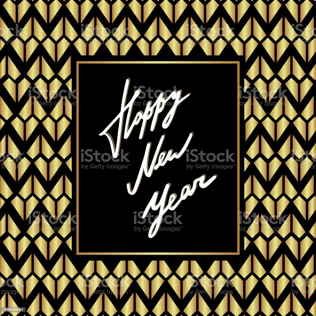 luxury happy new year card template vector royalty free luxury happy new year card template