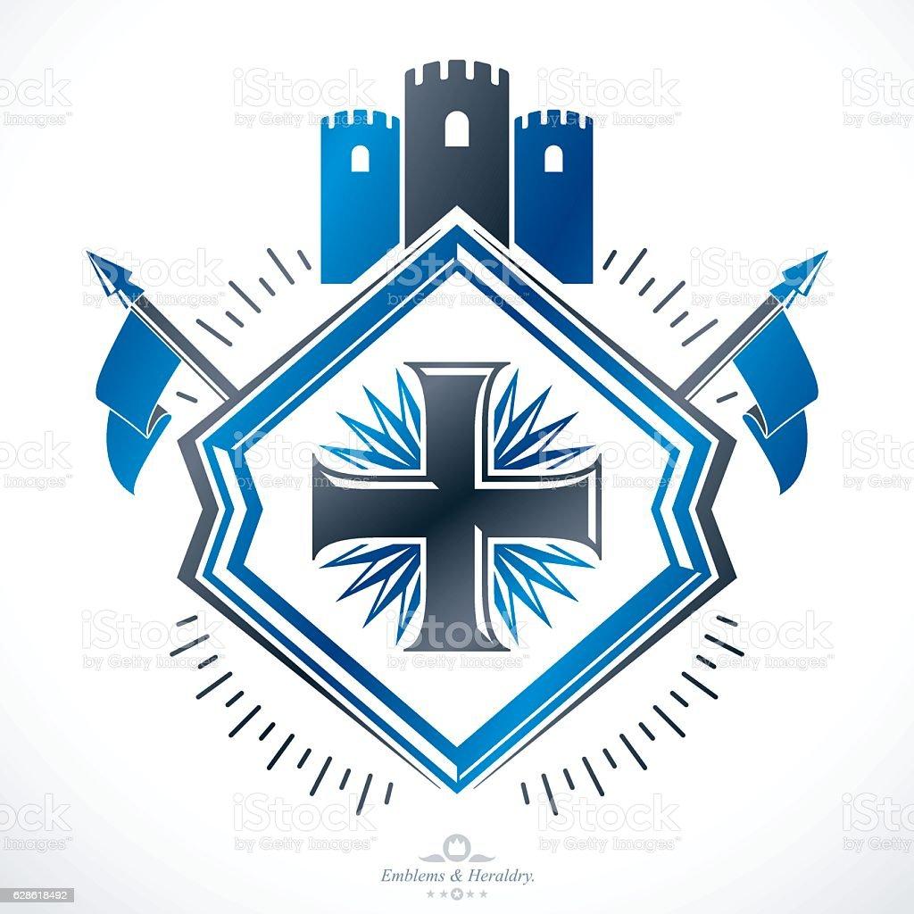 Luxury Heraldic Vector Emblem Template Vector Blazon Vecteurs Libres