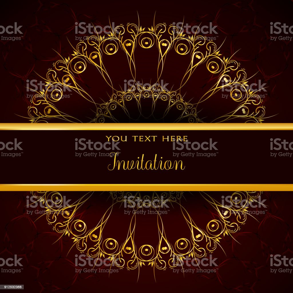 Plantilla De Invitación De Lujo Con Mandala Decorativo Adorno De ...