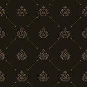 Vector luxury king background with golden floral elements