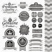 Luxury label set black & white