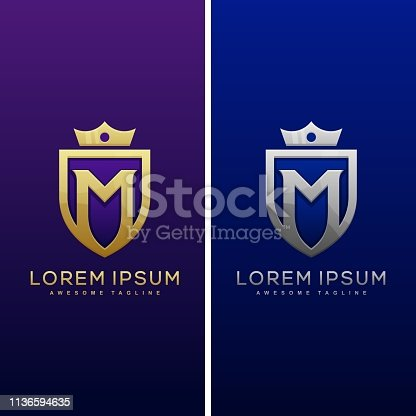 Luxury Letter M Concept illustration vector Design template.  Suitable for Creative Industry, Multimedia, entertainment, Educations, Shop, and any related business