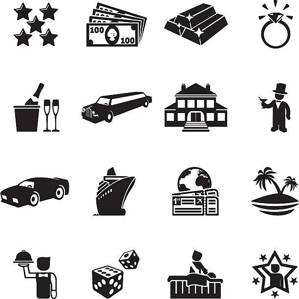 Luxus Leben Symbole – Vektorgrafik