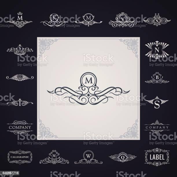 Luxury logo monogram set vintage royal flourishes elements symbol vector id646867716?b=1&k=6&m=646867716&s=612x612&h=q19yyz mv1mfhpu s rumiz3kyxvbpoig3tbjj2nwpq=