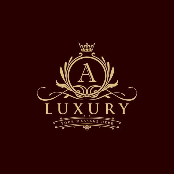 luxus-logo - monogrammarten stock-grafiken, -clipart, -cartoons und -symbole