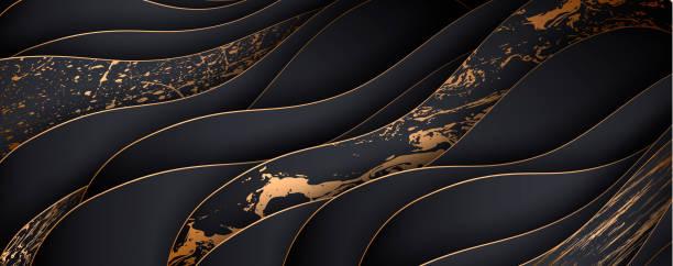Mármol de lujo y fondo cortado en papel, decoración abstracta. - ilustración de arte vectorial