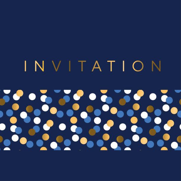 ilustrações, clipart, desenhos animados e ícones de padrão geométrico de luxo marine para convite. - eventos de gala