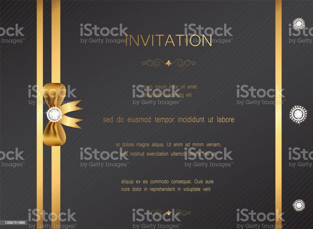 Luxuriöse Moderne Goldene Hochzeit Einladung Feier Gruß
