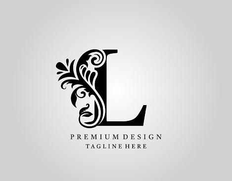 Luxury Monogram Letter L logo design.