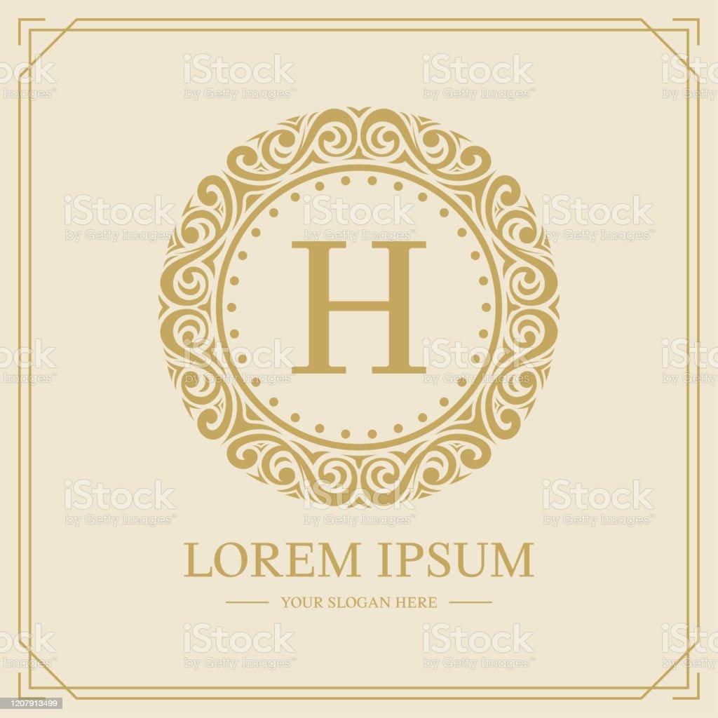 Luxury Monogram Logo Template Letter H Logo Design Vector Illustration Stock Illustration Download Image Now Istock