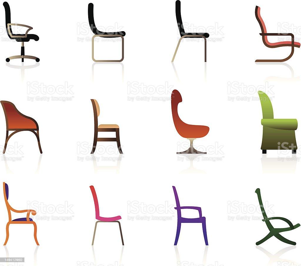 Stock Sedie In Plastica.Lusso Ufficio Sedie Di Plastica E Interni Immagini Vettoriali
