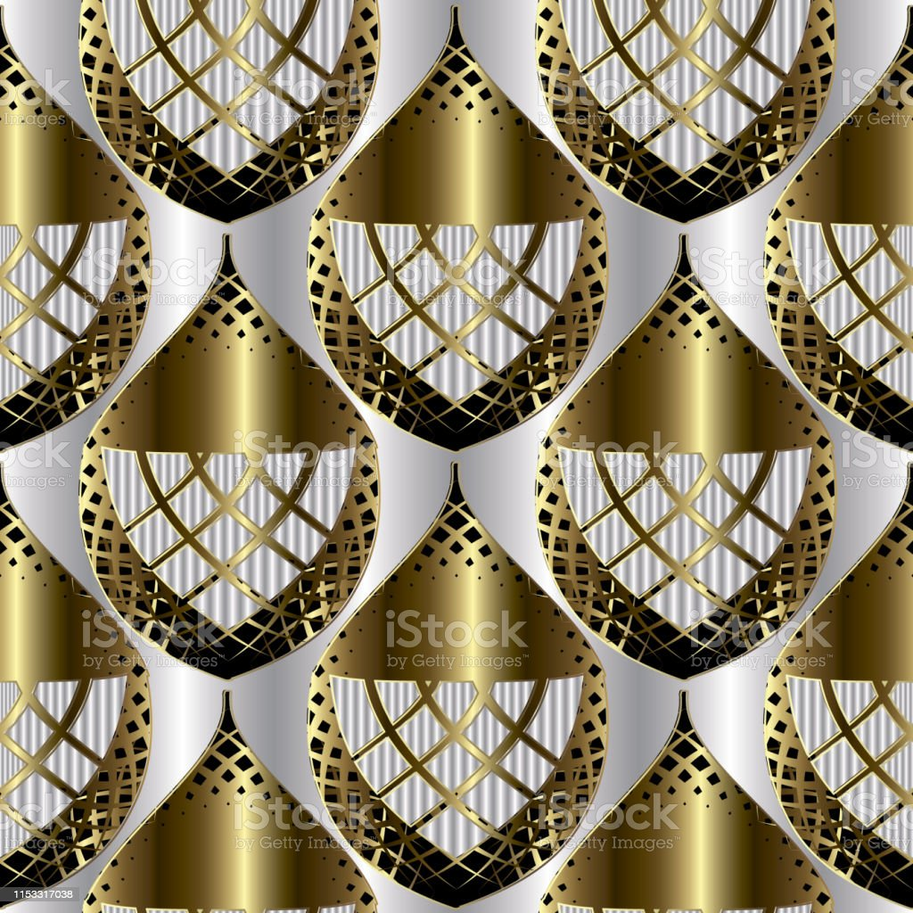 luxury ornamental abstract 3d seamless pattern surface textured vector id1153317038
