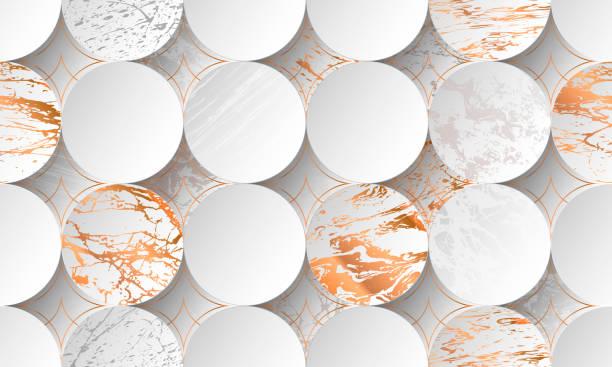 Fondo cortado de papel de lujo, decoración abstracta, patrón dorado, degradados de semitonos, ilustración vectorial 3d. - ilustración de arte vectorial