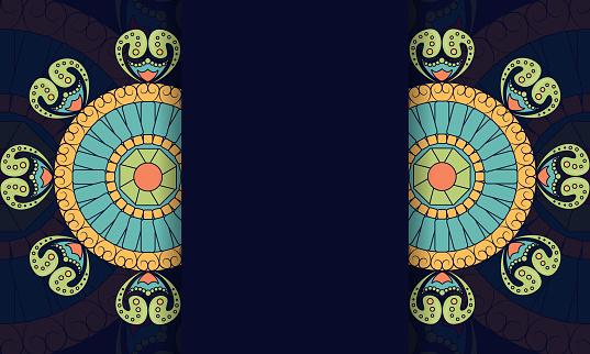 luxury pattern frame stock illustration