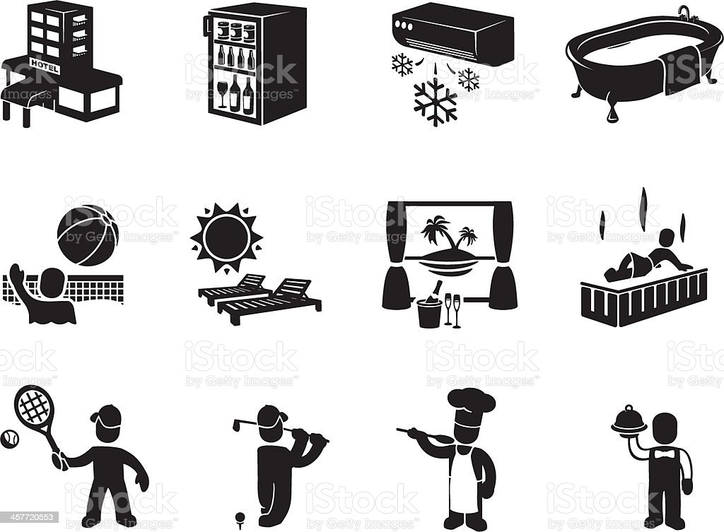Luxury Resort Icons royalty-free luxury resort icons stock vector art & more images of air conditioner