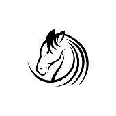 Luxury round head horse icon illustration vector