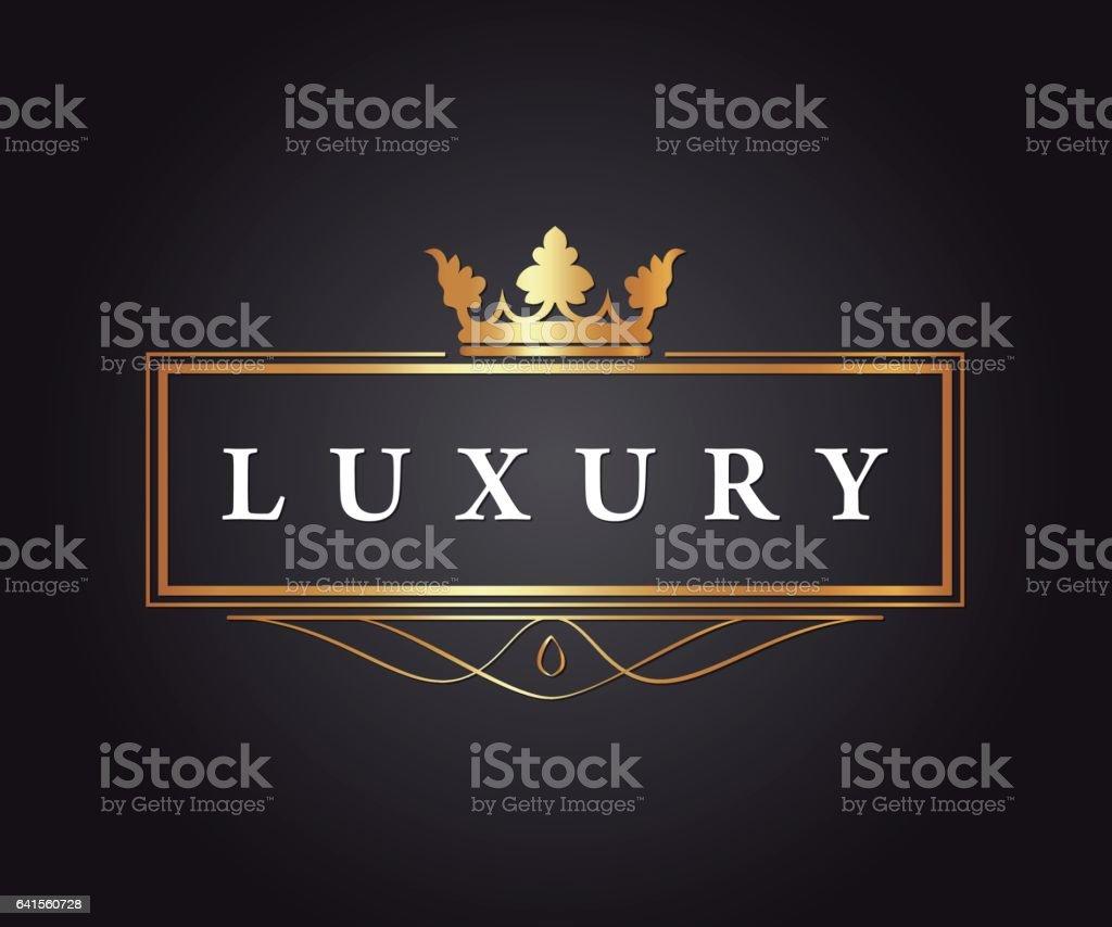 Luxury, Royal and Elegant Vector Design vector art illustration