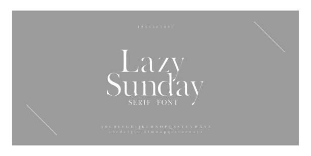 Luxury sans serif alphabet letters font and number. Classic Lettering Minimal Fashion Designs. Typography simple fonts uppercase and lowercase. vector illustration Luxury sans serif alphabet letters font and number. Classic Lettering Minimal Fashion Designs. Typography simple fonts uppercase and lowercase. vector illustration alphabet designs stock illustrations