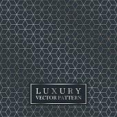 Luxury seamless geometric pattern - grid gradient texture. Dark vintage vector background.