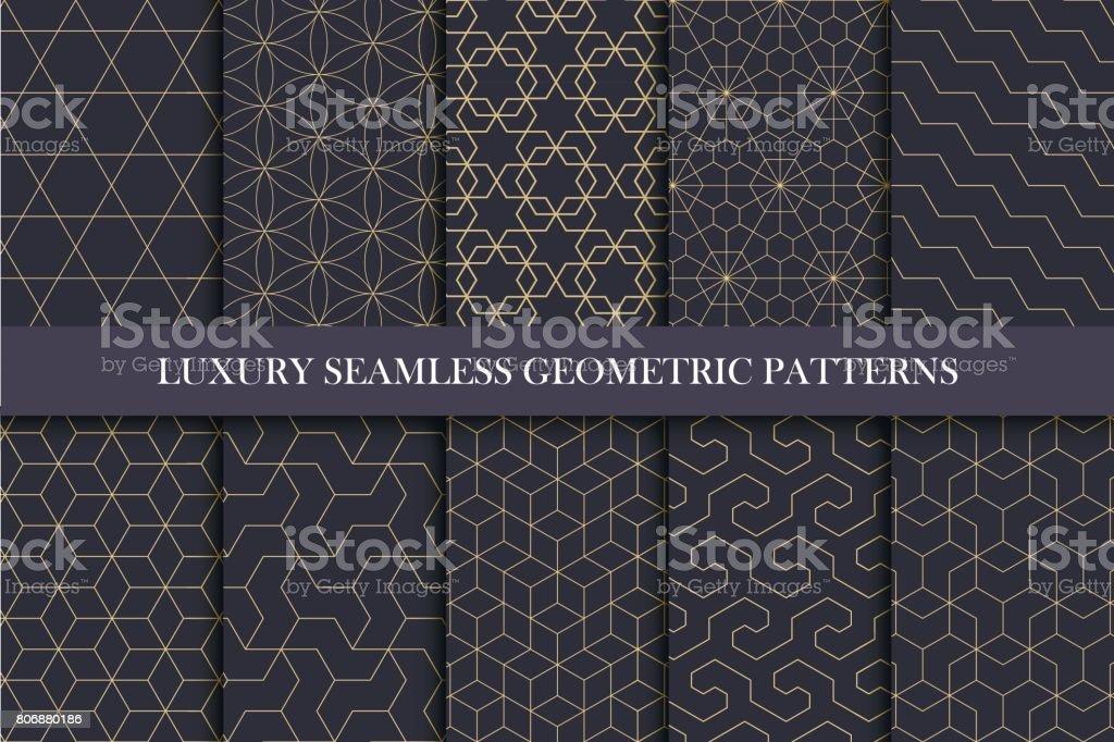 豪華無縫的觀賞模式 — — 豐富的幾何設計。 - 免版稅一組物體圖庫向量圖形
