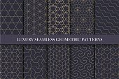 Luxury seamless ornamental patterns - geometric rich design.