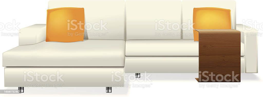 Luxury Sofa royalty-free stock vector art