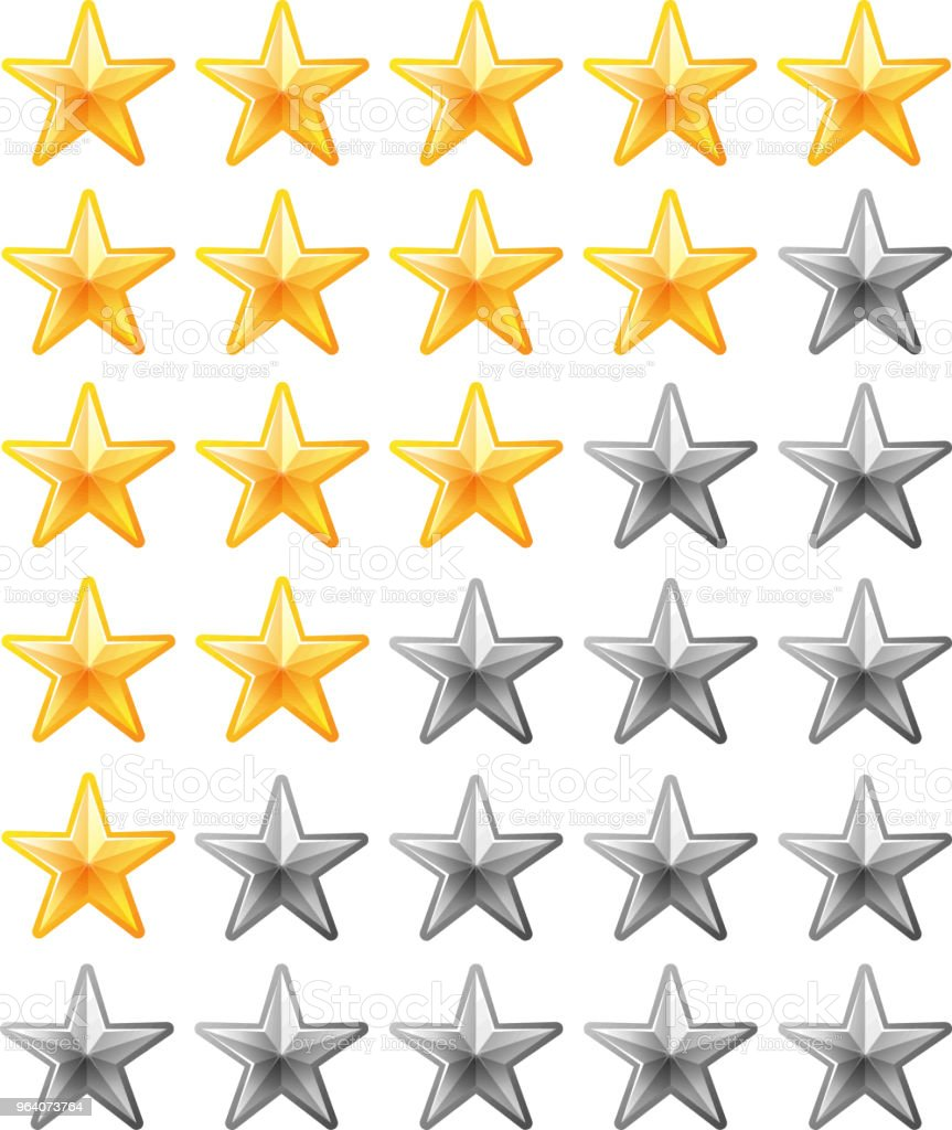 Luxury star rating bar - Royalty-free Abstract stock vector