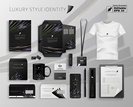 Luxury Style Company Identity Editable Vector