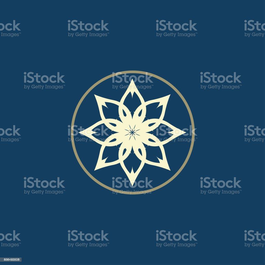 Luxury Symbol Lotus Symbol Vector Illustration Stock ...