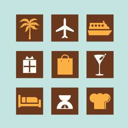 luxury travel icons