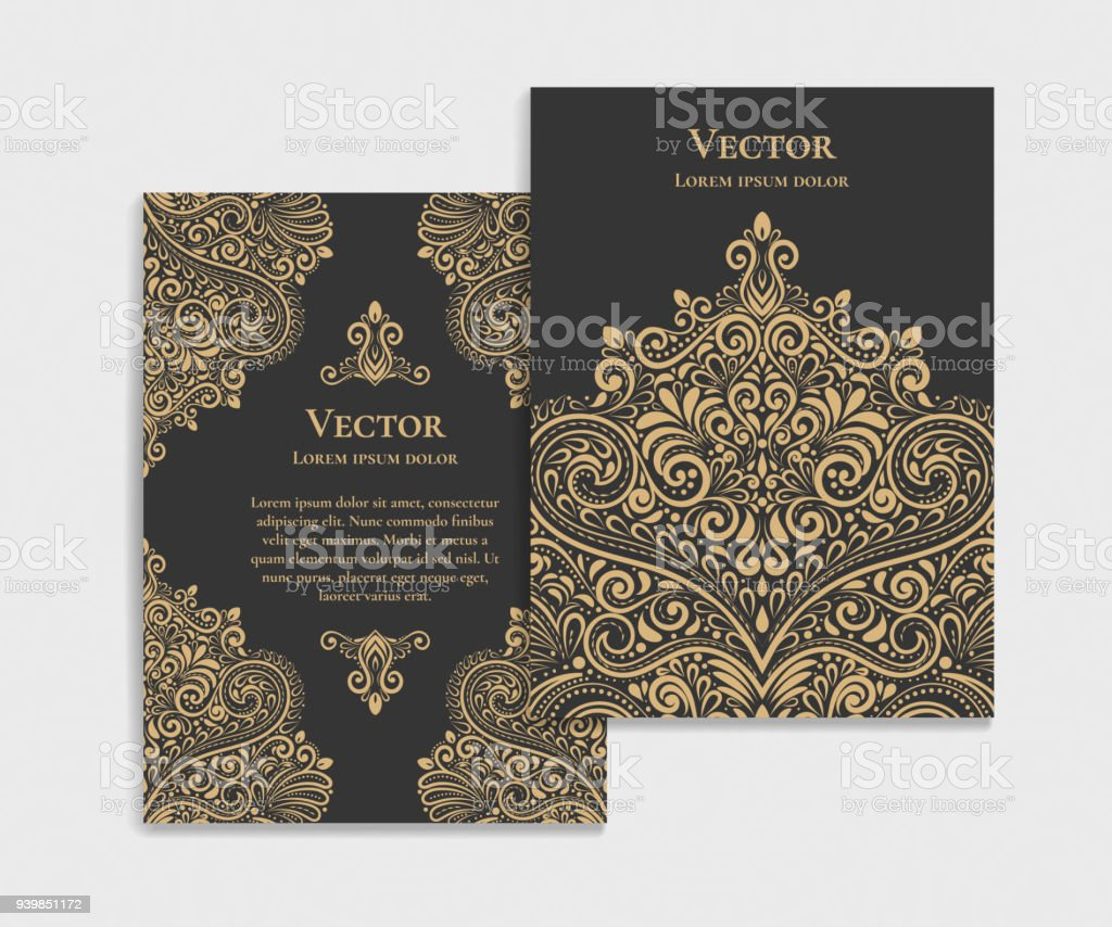 Luxury Vector Invitation Card On A Black Background Stock