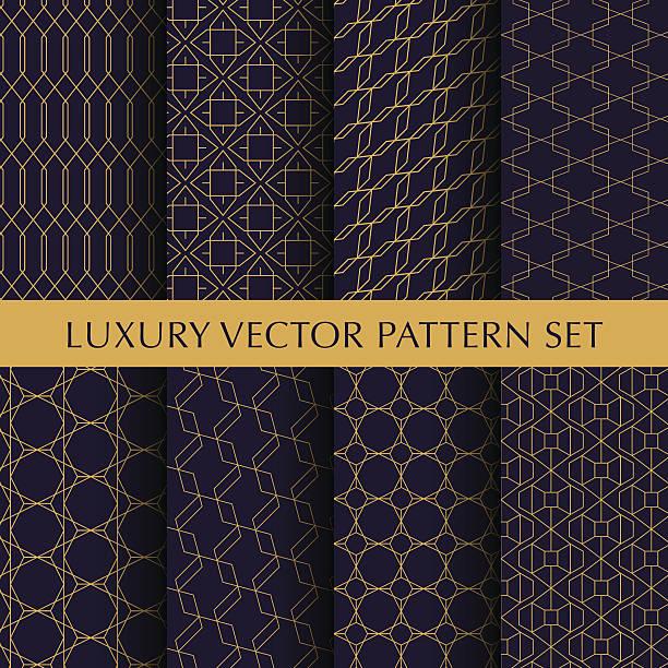 stockillustraties, clipart, cartoons en iconen met luxury vector patterns pack - sandaal