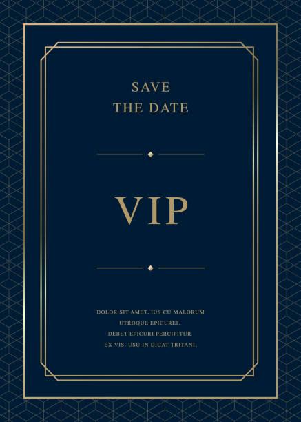 ilustrações de stock, clip art, desenhos animados e ícones de luxury vintage golden vector invitation card template - comemoração evento