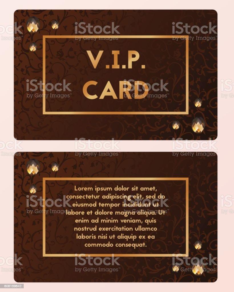 Illustration Vectorielle De Luxe Carte De Visite Coupe Vip Avec