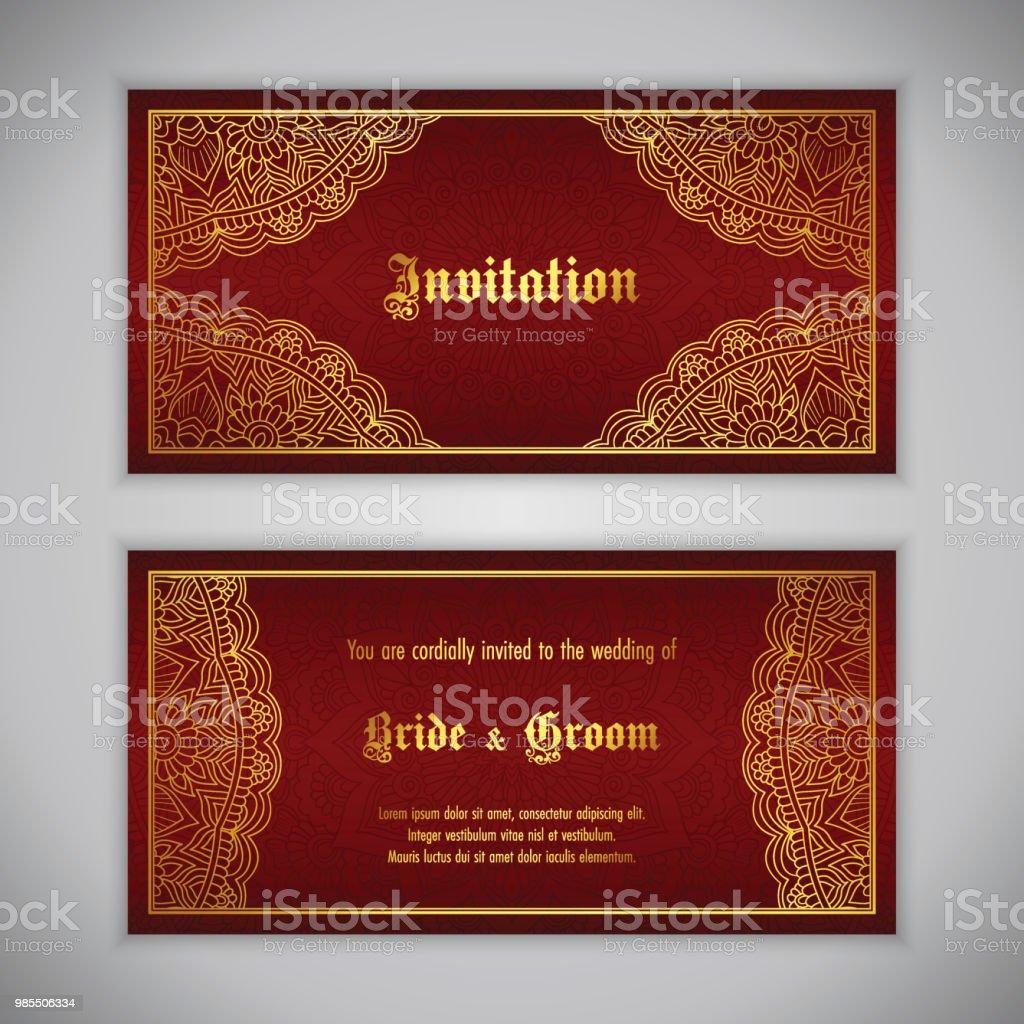 Luxury Wedding Invitation Stock Vector Art & More Images of ...