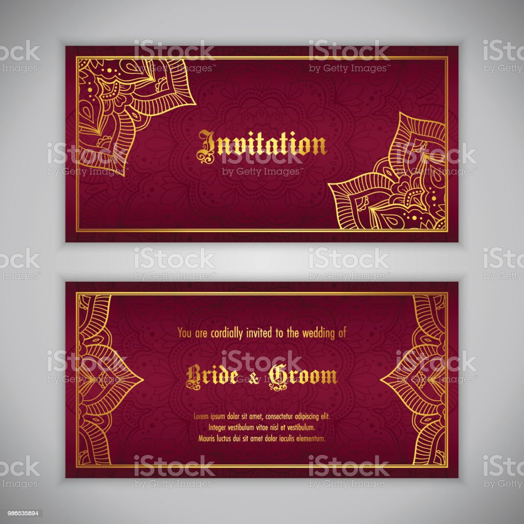 Luxury Wedding Invitation Stock Vector Art & More Images of ...