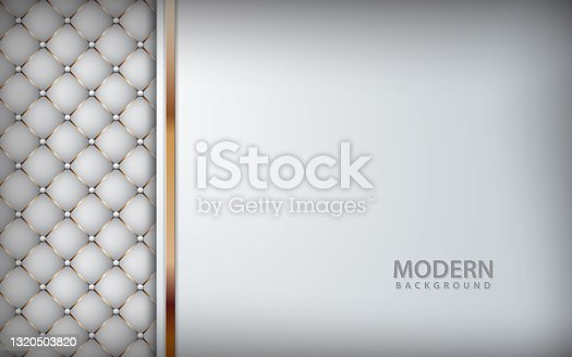 Luxury white background realistic leather textured
