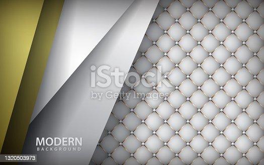 Luxury white leather background